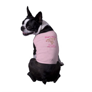 ♥ DOG SHIRT ♥ Mommy's little Monkey pink outfit