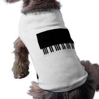 Dog Shirt - Piano Keyboard black white