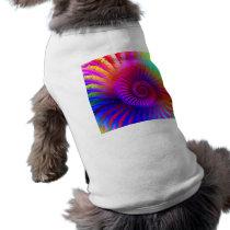 Dog Shirt Psychedelic Fractal pink red purple blue