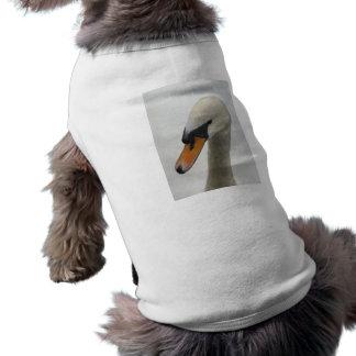 Dog Shirt - White Macro Swan