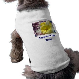 Dog Shirts custom Thanks for the Walk Daffodils Doggie Tshirt