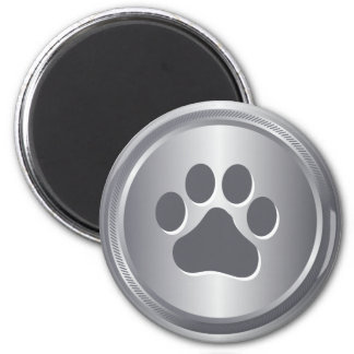 Dog show winner silver medal magnet