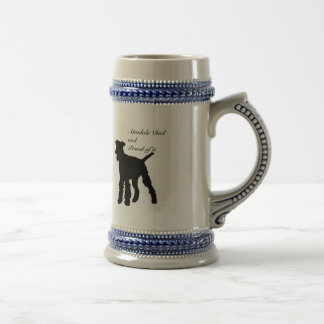 Dog Silhouette Airedale Dad Mugs