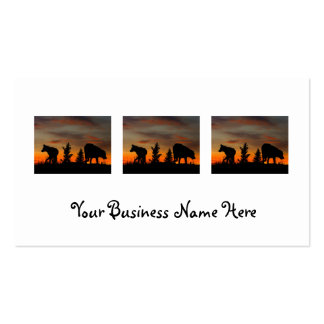 Dog Silhouette at Sunset Double-Sided Standard Business Cards (Pack Of 100)