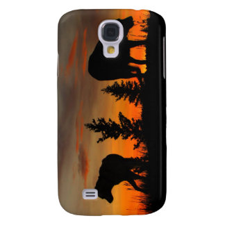 Dog Silhouette at Sunset Samsung Galaxy S4 Cases