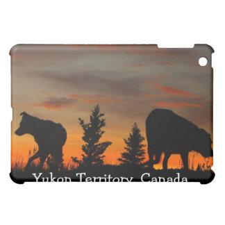 Dog Silhouette at Sunset; Yukon Territory, Canada iPad Mini Case