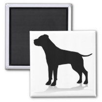 Dog Silhouette Pet Animal Magnet