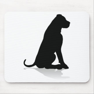 Dog Silhouette Pet Animal Mouse Pad