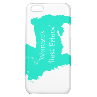Dog Silhouette Woman's Best Friend in Teal iPhone 5C Case