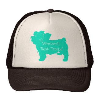 Dog Silhouette Woman's Best Friend in Teal Trucker Hat