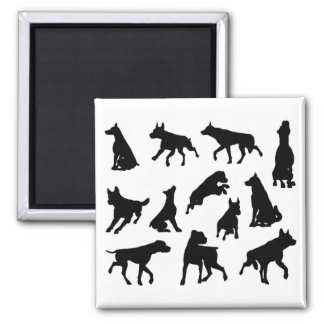 Dog Silhouettes Animal Set Magnet