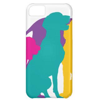 Dog Silhouettes Colour iPhone 5C Case