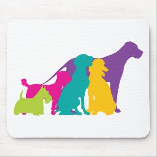 Dog Silhouettes Colour Mouse Pad