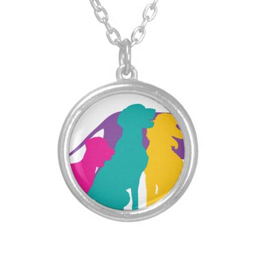 Dog Silhouettes Colour Pendant