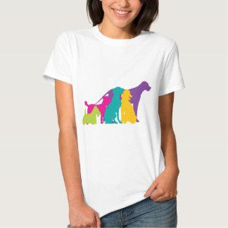 Dog Silhouettes Colour T-Shirt