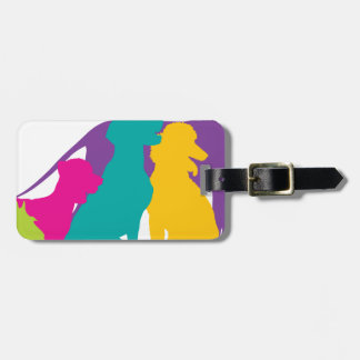 Dog Silhouettes Colour Travel Bag Tags
