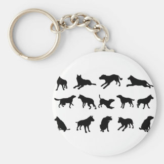 Dog Silhouettes Key Chain