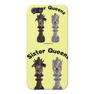 Dog Sister Chess Queens Case For iPhone 5