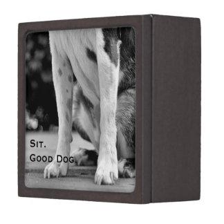 Dog Sit Black and White Gift Box