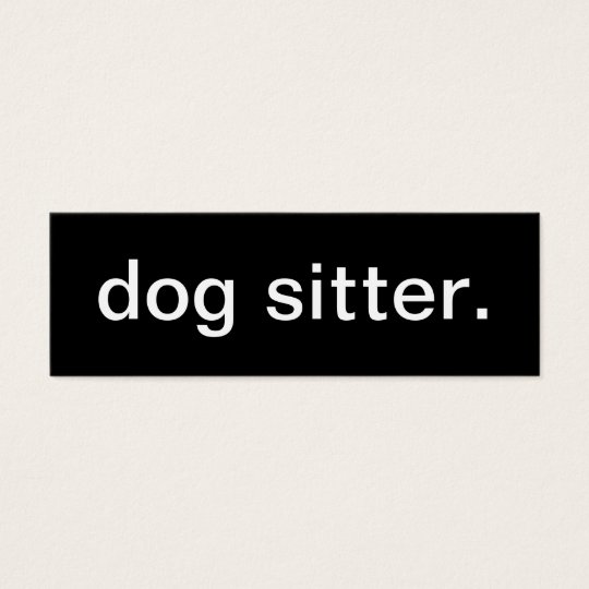 Dog Sitter Business Card