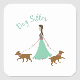 Dog Sitter Square Stickers