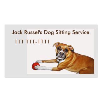 Dog Sitter Template with Boxer Puppy Double-Sided Standard Business Cards (Pack Of 100)