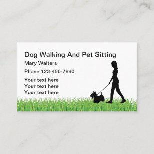 Dog walking business cards zazzle dog sitting and dog walking business card colourmoves