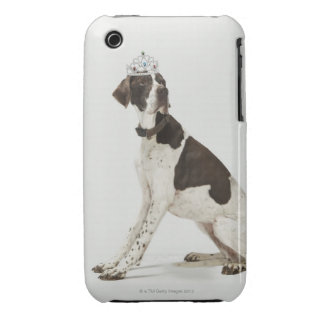 Dog sitting with a tiara on head iPhone 3 cover