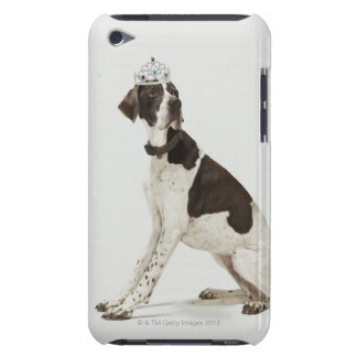 Dog sitting with a tiara on head iPod touch case