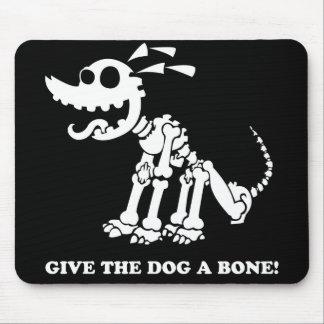Dog Skeleton Black shirt Mouse Pad