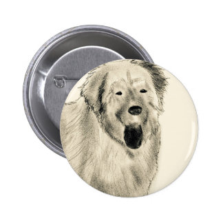 Dog sketch button