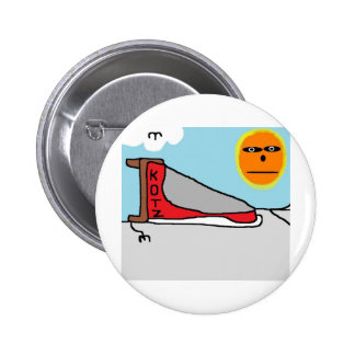 dog sled pinback buttons