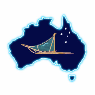 Dog Sled Down Under Cutout