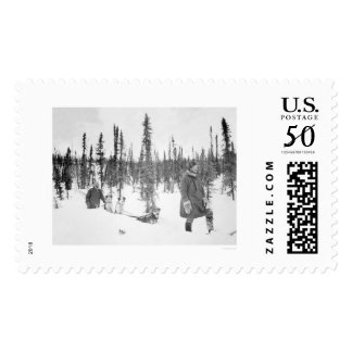Dog Sled Men Fairbanks 1920 Postage