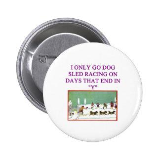 dog sled racing iditarod lover button