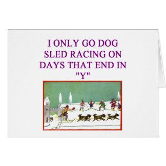 dog sled racing iditarod lover greeting card