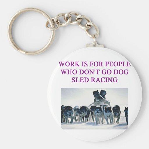 dog sled racing iditarod lover key chain