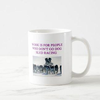 dog sled racing iditarod lover coffee mugs