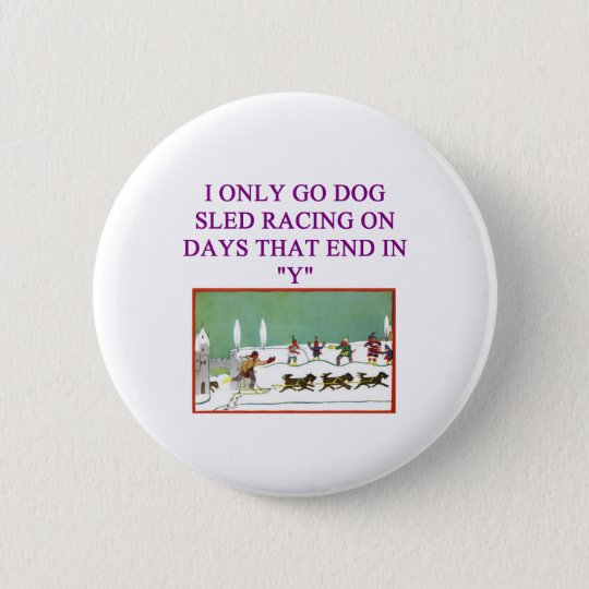 dog sled racing iditarod lover pinback button