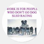 dog sled racing iditarod lover stickers