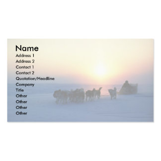 Dog sled travel at 45 degrees Celsius, Baffin Isla Business Card