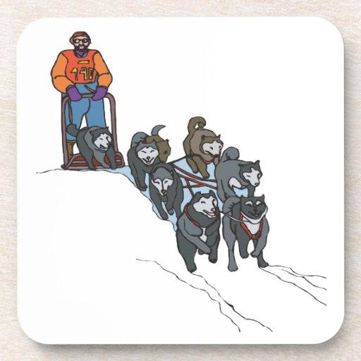 Dog Sledding Beverage Coaster
