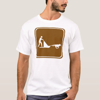 Dog sledding Highway Sign T-Shirt