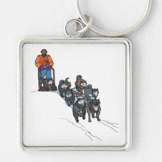 Dog Sledding Keychain