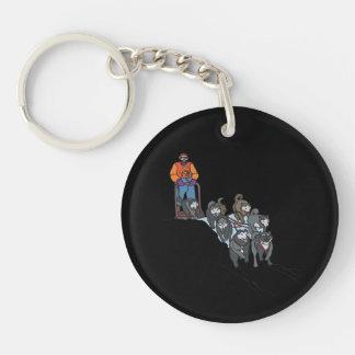 Dog Sledding Keychain