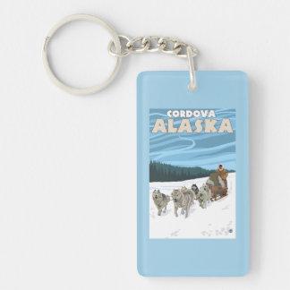 Dog Sledding Scene - Cordova, Alaska Keychain