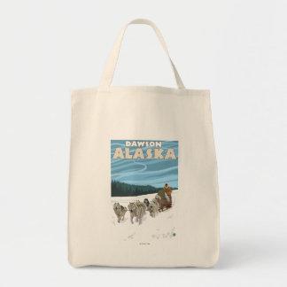 Dog Sledding Scene - Dawson, Alaska Tote Bag