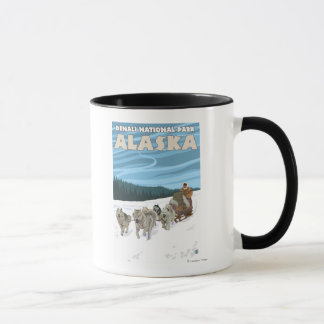 Dog Sledding Scene - Denali Nat'l Park, Alaska Mug