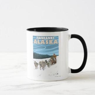 Dog Sledding Scene - Fairbanks, Alaska Mug