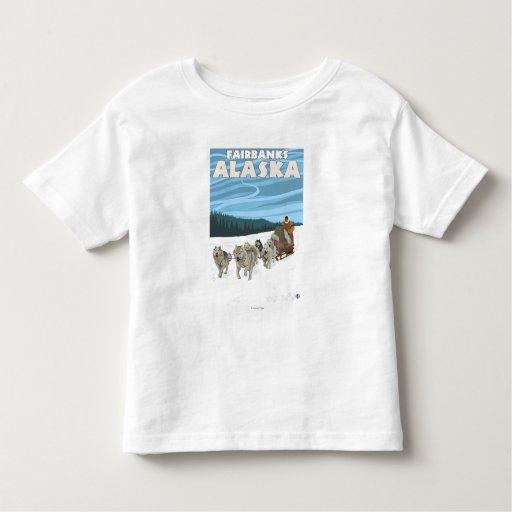Dog Sledding Scene - Fairbanks, Alaska Toddler T-shirt